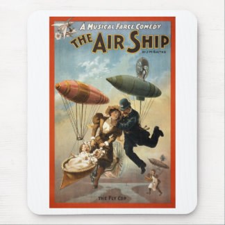 The Air Ship - The Fly Cop Mouse Pad