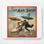 The Air Ship - The Fly Cop Mouse Pads