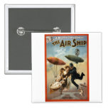 The Air Ship - The Fly Cop Pinback Buttons
