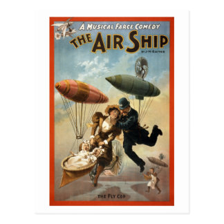 The Air Ship - The Fly Cop Post Cards