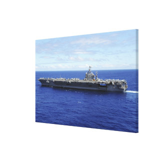 The aircraft carrier USS Abraham Lincoln 2 Canvas Print