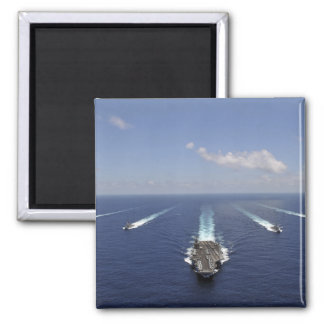 The aircraft carrier USS Abraham Lincoln 2 Inch Square Magnet