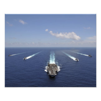 The aircraft carrier USS Abraham Lincoln 2 Photo Print