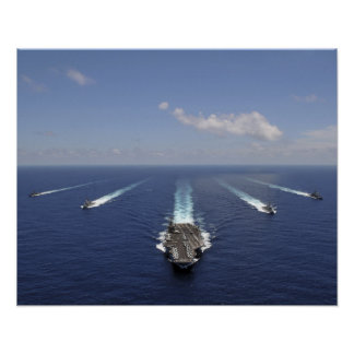 The aircraft carrier USS Abraham Lincoln 2 Poster