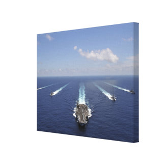 The aircraft carrier USS Abraham Lincoln Canvas Print