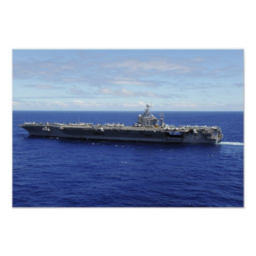 The aircraft carrier USS Abraham Lincoln Print