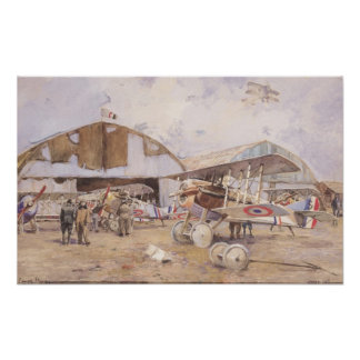 The Airfield, 1918 Poster