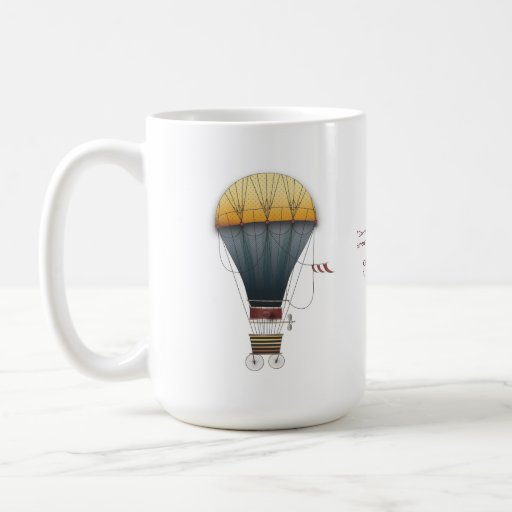 The Airship Abeelle Steampunk Flying Machine Classic White Coffee Mug