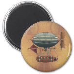 The Airship Aleutian Steampunk Flying Machine 2 Inch Round Magnet