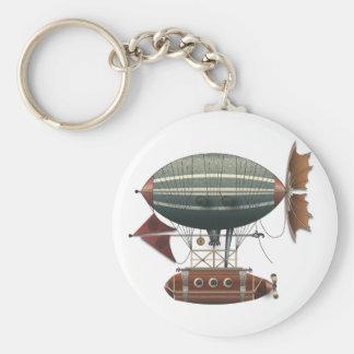 The Airship Aleutian Steampunk Flying Machine Keychain