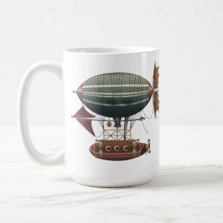 The Airship Aleutian Steampunk Flying Machine Classic White Coffee Mug