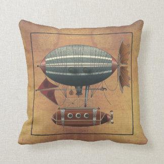 The Airship Aleutian Steampunk Flying Machine Pillow
