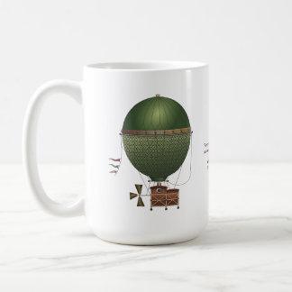 The Airship Citronnier Steampunk Flying Machine Classic White Coffee Mug