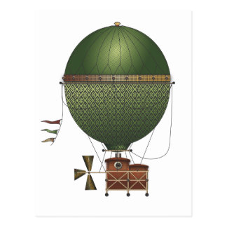 The Airship Citronnier Steampunk Flying Machine Postcard