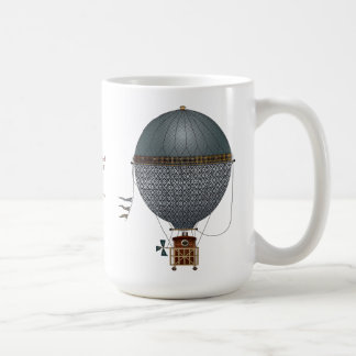 The Airship Indigon Steampunk Flying Machine Coffee Mug