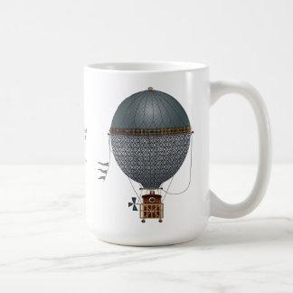 The Airship Indigon Steampunk Flying Machine Classic White Coffee Mug