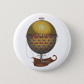 The Airship Nautisme Steampunk Flying Machine Button