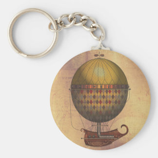 The Airship Nautisme Steampunk Flying Machine Keychain