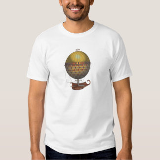 The Airship Nautisme Steampunk Flying Machine T-Shirt