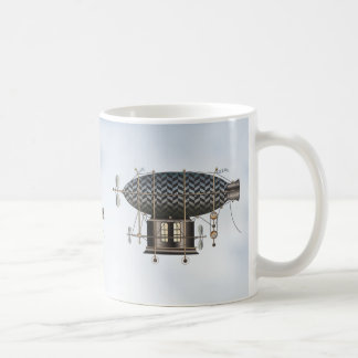The Airship Petite Noir Steampunk Flying Machine Coffee Mug