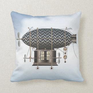 The Airship Petite Noir Steampunk Flying Machine Pillow