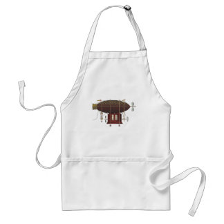 The Airship Petite Rouge Steampunk Flying Machine Adult Apron