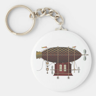 The Airship Petite Rouge Steampunk Flying Machine Keychain