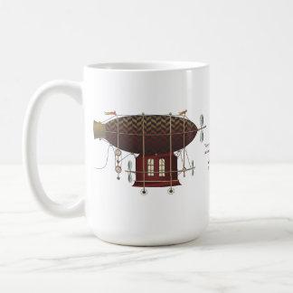 The Airship Petite Rouge Steampunk Flying Machine Classic White Coffee Mug