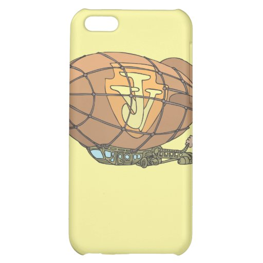 """The airship """"steampunk"""" Jules Verne iPhone 5C Case"""