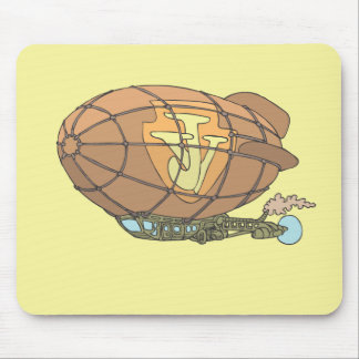 "the airship ""steampunk"" Jules Verne Mouse Pad"