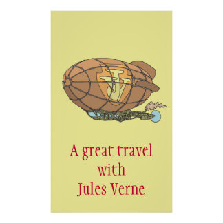 """The airship """"steampunk"""" Jules Verne Poster"""