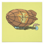 "The airship ""steampunk"" Jules Verne Print"