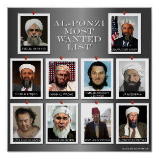 The AL-PONZI MOST WANTED LIST Poster