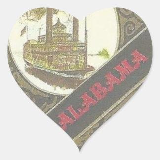 THE ALABAMA RIVERBOAT LUCKY GAMBLER !. HEART STICKER