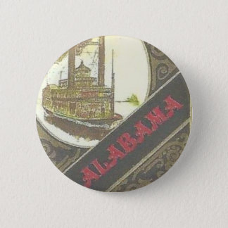 THE ALABAMA RIVERBOAT LUCKY GAMBLER ! PINBACK BUTTON