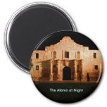 The Alamo at Night 2 Inch Round Magnet
