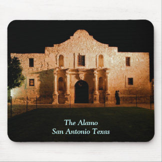 The Alamo at Night Mouse Pad