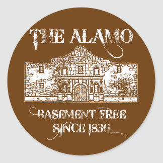 The Alamo Basement Classic Round Sticker