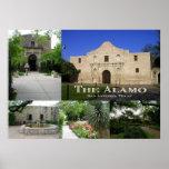 The Alamo Collage, San Antonio, Texas Print