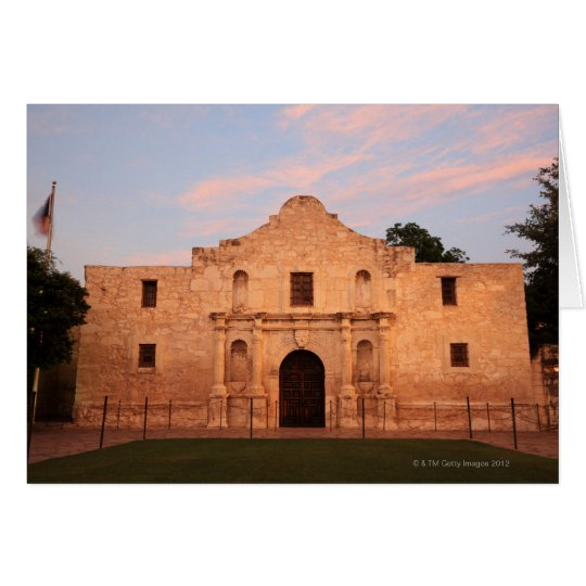 The Alamo Mission in modern day San Antonio, 2 Card