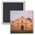 The Alamo Mission in modern day San Antonio, 2 2 Inch Square Magnet