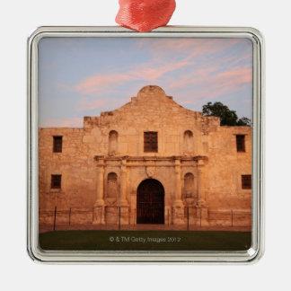 The Alamo Mission in modern day San Antonio, 2 Metal Ornament