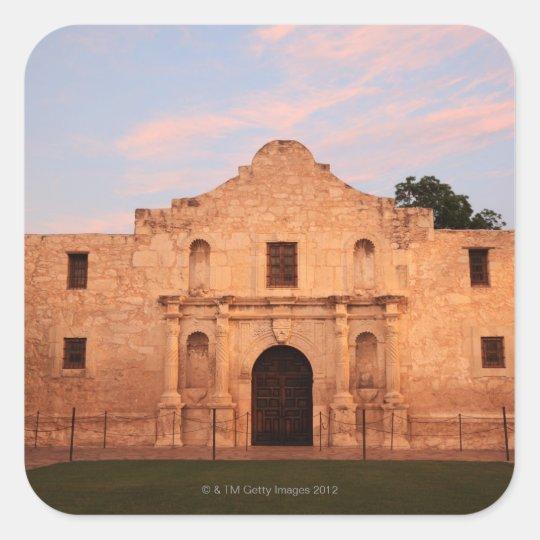 The Alamo Mission in modern day San Antonio, 2 Square Sticker