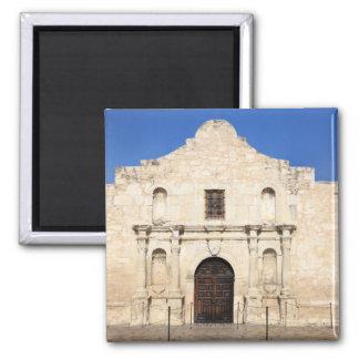 The Alamo Mission in modern day San Antonio, 3 2 Inch Square Magnet