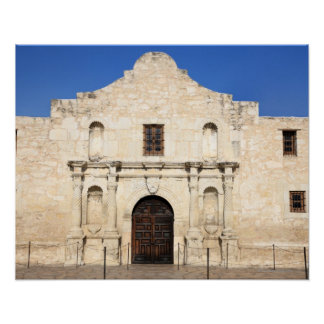 The Alamo Mission in modern day San Antonio, 3 Poster