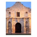 The Alamo Mission in modern day San Antonio, Postcard
