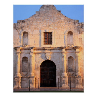 The Alamo Mission in modern day San Antonio, Poster