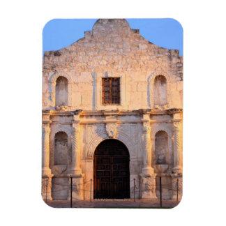The Alamo Mission in modern day San Antonio Rectangular Magnets