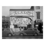 The Alamo Movie Theater, 1937 Posters