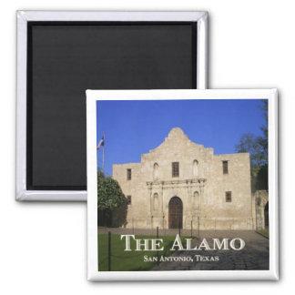 The Alamo, San Antonio, Texas 2 Inch Square Magnet
